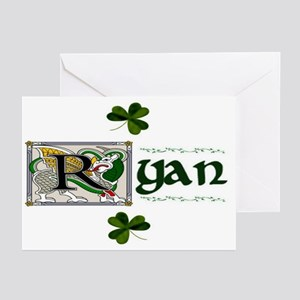 Ryan Celtic Dragon Greeting Cards (Pk of 10)