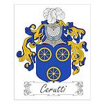 Cerutti Family Crest Small Poster