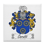 Cerutti Family Crest Tile Coaster