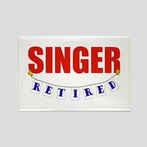 Retired Singer Rectangle Magnet