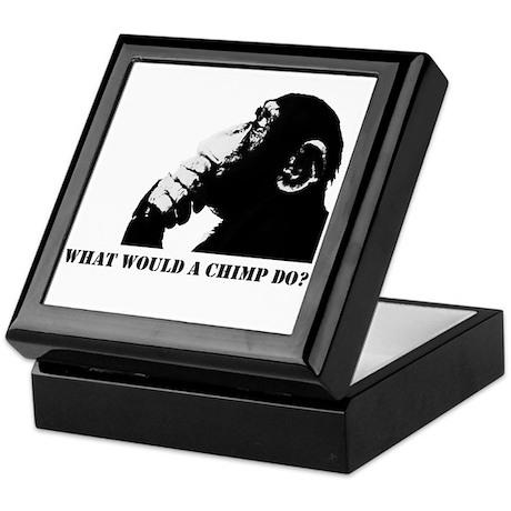 What would a chimp do? Keepsake Box