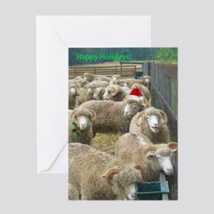 Happy Holidays Sheep Greeting Cards