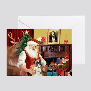 Santa's Boxer Greeting Card