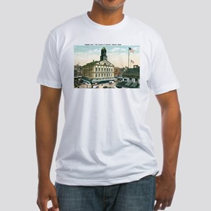 Boston Massachusetts MA Fitted T-Shirt