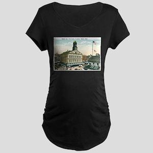 Boston Massachusetts MA Maternity Dark T-Shirt