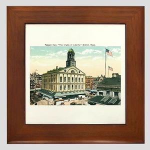 Boston Massachusetts MA Framed Tile