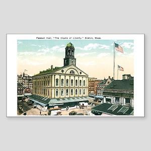Boston Massachusetts MA Rectangle Sticker