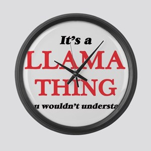 It's a Llama thing, you would Large Wall Clock
