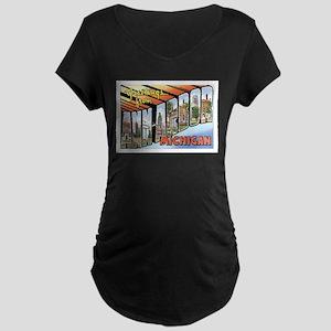 Ann Arbor Michigan MI Maternity Dark T-Shirt