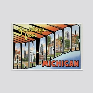 Ann Arbor Michigan MI Rectangle Magnet