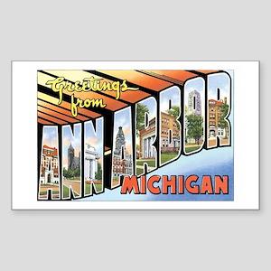 Ann Arbor Michigan MI Rectangle Sticker