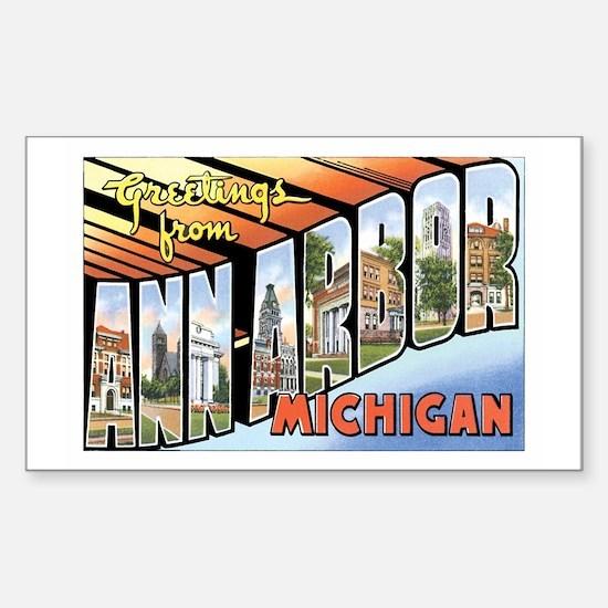 Ann Arbor Michigan MI Rectangle Decal