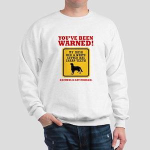 Irish Red & White Setter Sweatshirt