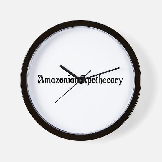 Amazonian Apothecary Wall Clock
