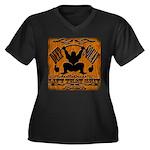 Bodybuilding Women's Plus Size V-Neck Dark T-Shirt