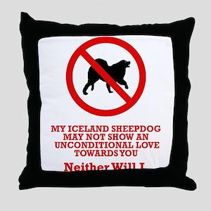 Iceland Sheepdog Throw Pillow