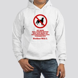 Irish Red & White Setter Hooded Sweatshirt