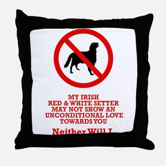 Irish Red & White Setter Throw Pillow