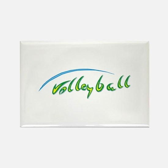 Volleyball Beach Rectangle Magnet