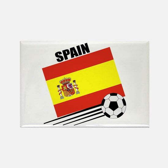 Spain Soccer Team Rectangle Magnet
