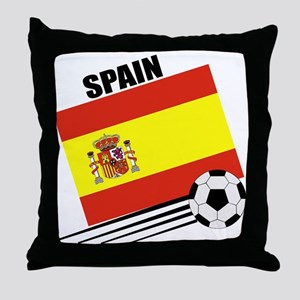 Spain Soccer Team Throw Pillow