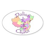 Dalian China Oval Sticker (10 pk)