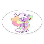 Fushun China Oval Sticker (10 pk)