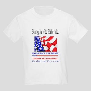 Imagine no Liberals Kids Light T-Shirt