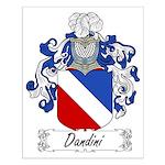 Dandini Family Crest Small Poster