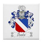 Dandini Family Crest Tile Coaster