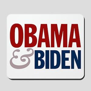 Obama-Biden Bold Type R/B Mousepad