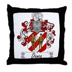 Danza Family Crest Throw Pillow