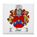 Danzi Family Crest Tile Coaster