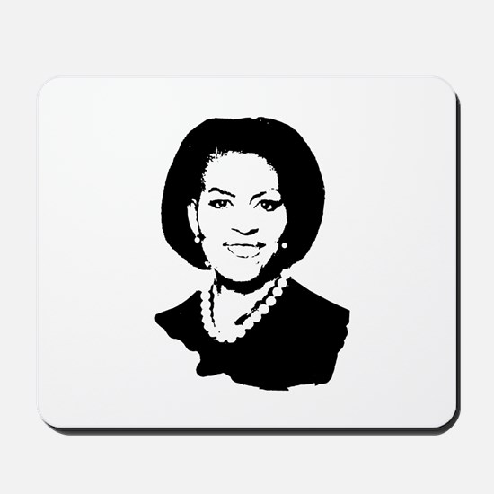 Michelle Obama screenprint Mousepad