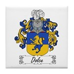 Dolce Family Crest Tile Coaster