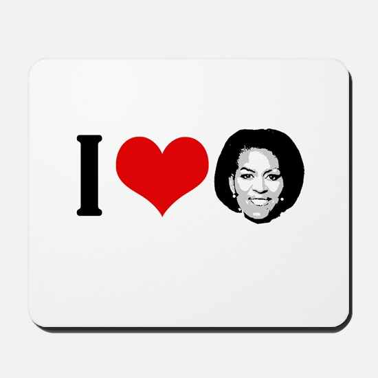 I Heart Michelle Obama Mousepad