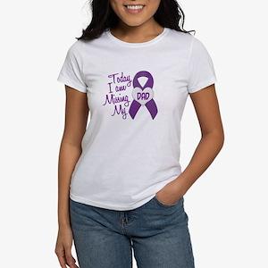 Missing My Dad 1 PURPLE Women's T-Shirt