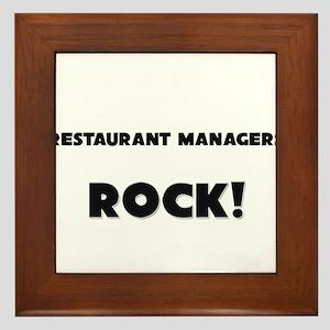 Restaurant Managers ROCK Framed Tile