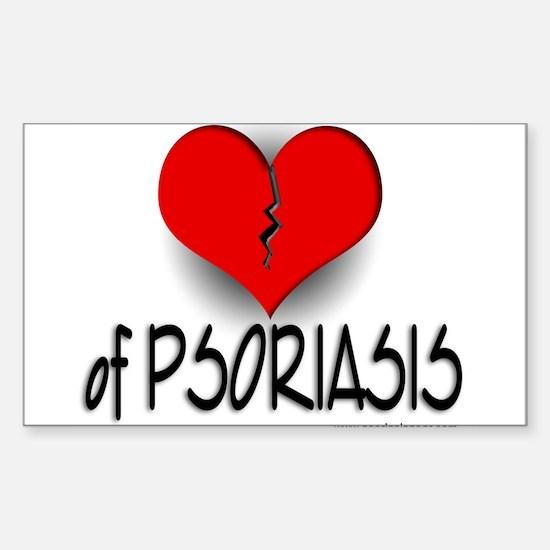 The Heartbreak of Psoriasis Rectangle Decal
