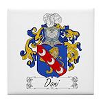 Doni Family Crest Tile Coaster
