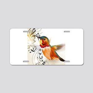 SONG BIRD Aluminum License Plate