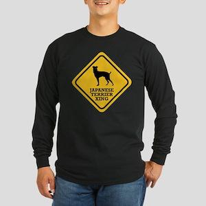 Japanese Terrier Long Sleeve Dark T-Shirt