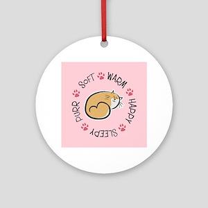 Soft Kitty Round Ornament