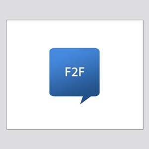 Face 2 Face F2F Small Poster