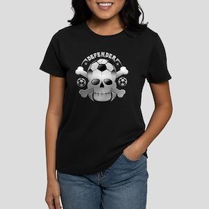 Socccer skull Women's Dark T-Shirt