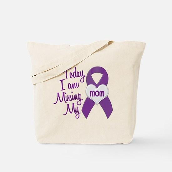 Missing My Mom 1 PURPLE Tote Bag