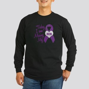 Missing My Mom 1 PURPLE Long Sleeve Dark T-Shirt