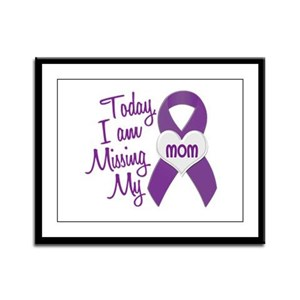 Missing My Mom 1 PURPLE Framed Panel Print