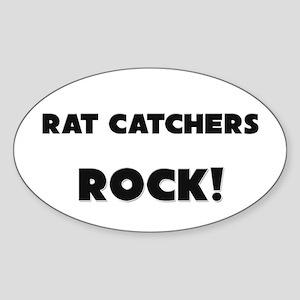 Rat Catchers ROCK Oval Sticker