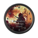 Firefighter Action Photo Large Wall Clock